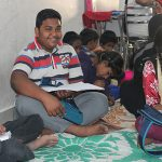 Lourde in Bangalore after-school program