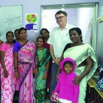Program Manager Patrick with women in Chennai